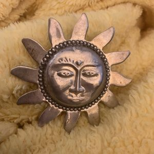 Vintage Sun Brooch. Can also be worn on slide.